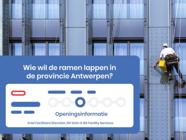 openingsinformatie Antwerpen schoonmaakopdrachten